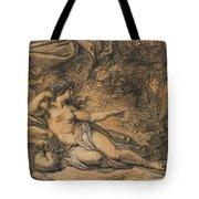 Diana And Actaeon Tote Bag