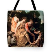 Diana And Her Companions Tote Bag