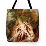 Diana And Her Nymphs Bathing Tote Bag