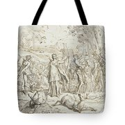 Diana And Her Nymphs Hunting Tote Bag