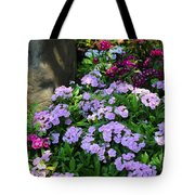 Dianthus Flower Bed Tote Bag by Corey Ford