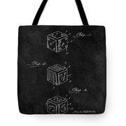 Dice Cube Patent Tote Bag