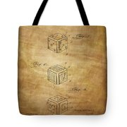 Dice Patent From 1923 Tote Bag