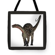 Dicraeosaurus On White Tote Bag