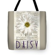 Dictionary Daisy Tote Bag