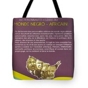 Dictionary Of Negroafrican Celebrities 2 Tote Bag