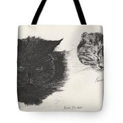 Diddybigface And Colliebeastie Tote Bag