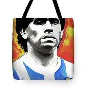 Diego Maradona By Nixo Tote Bag