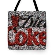 Diet Coke Bottle Cap Mosaic Tote Bag by Paul Van Scott