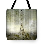 Digital-art Paris Eiffel Tower Geometric Mix No.1 Tote Bag by Melanie Viola