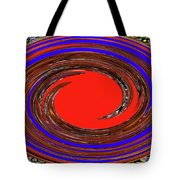 Digital Blue Red Plate Special Tote Bag