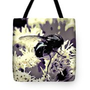 Digital Bottle Fly Tote Bag