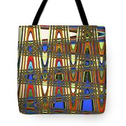 Digital Broad Paint Abstract Tote Bag