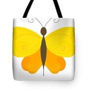 Digital Butterfly Tote Bag