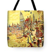 Digital Dreams Of A Young Woman From Buenos Aires In Madrid Tote Bag
