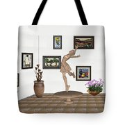 digital exhibition _ A sculpture of a dancing girl 14 Tote Bag