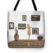 digital exhibition _ A sculpture of a dancing girl 3 Tote Bag