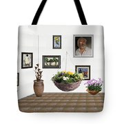 digital exhibition _ Flower basket 22 Tote Bag