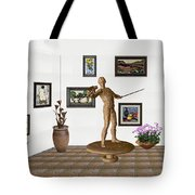 Digital Exhibition _ Guard Of The Exhibition 4 Tote Bag