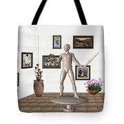 Digital Exhibition _ Guard Of The Exhibition1 Tote Bag