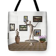Digital Exhibition _ Guard Of The Exhibition2 Tote Bag