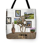 Digital Exhibition _ Modern  Statue   Of Dancing Girl Tote Bag