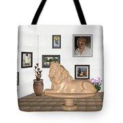 Digital Exhibition _  Sculpture Of A Lion Tote Bag