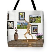 digital exhibition _ Statue 2 of Girl  - Zombie Tote Bag