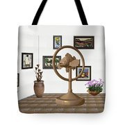 digital exhibition _ Statue of fish 1 Tote Bag