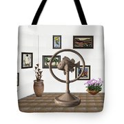 digital exhibition _ Statue of fish 4 Tote Bag