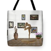 digital exhibition _ Statue of girl 42 Tote Bag