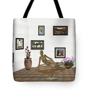 digital exhibition _ Statue of girl 48 Tote Bag