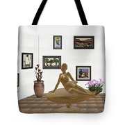 digital exhibition _ Statue of girl 49 Tote Bag