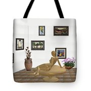 digital exhibition _ Statue of girl 52 Tote Bag