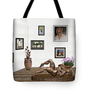 digital exhibition _ Statue of Girl 6 Tote Bag