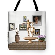 digital exhibition _ Statue of  Mother and child zombies Tote Bag