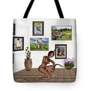 digital exhibition _beautiful Girl  - Zombie Tote Bag