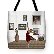 Digital Exhibition _dancing Girl 221 Tote Bag
