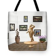 digital exhibition  Statue 23 of posing lady  Tote Bag