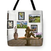 digital exhibition _Statue 4 of posing girl 221 Tote Bag