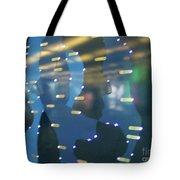 Digital Faces Tote Bag