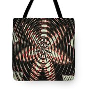 Digital Fan Abstract Tote Bag