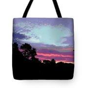 Digital Fine Art Work Sunrise In Violet Gulf Coast Florida Tote Bag