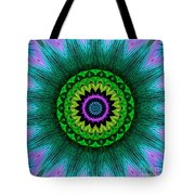 Digital Kaleidoscope Mandala 50 Tote Bag