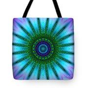 Digital Kaleidoscope Mandala 51 Tote Bag