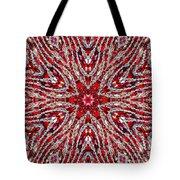 Digital Kaleidoscope Red-white 4 Tote Bag