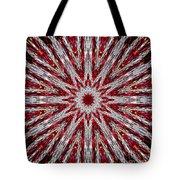 Digital Kaleidoscope Red-white 7 Tote Bag