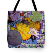 Digital Lilies Tote Bag
