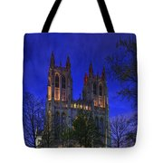 Digital Liquid - Washington National Cathedral After Sunset Tote Bag