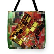 Digital Mosaic Tote Bag
